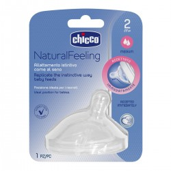 Chicco Tetina Natural Feeling de Silicone +2m